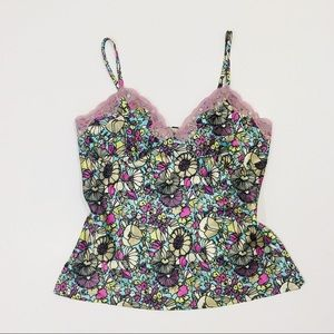 🔥2/$20 Nicole by Nicole Miller Silky Floral Cami